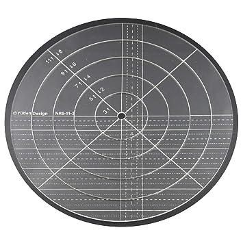 5 mm acrílico de punto de sueño Patchwork Quilting plantilla regla Nesting Anillo para uso doméstico