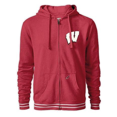 Elite Fan Shop Wisconsin Badgers Full Zip Hoodie Sweatshirt Red - S 85c2a8230