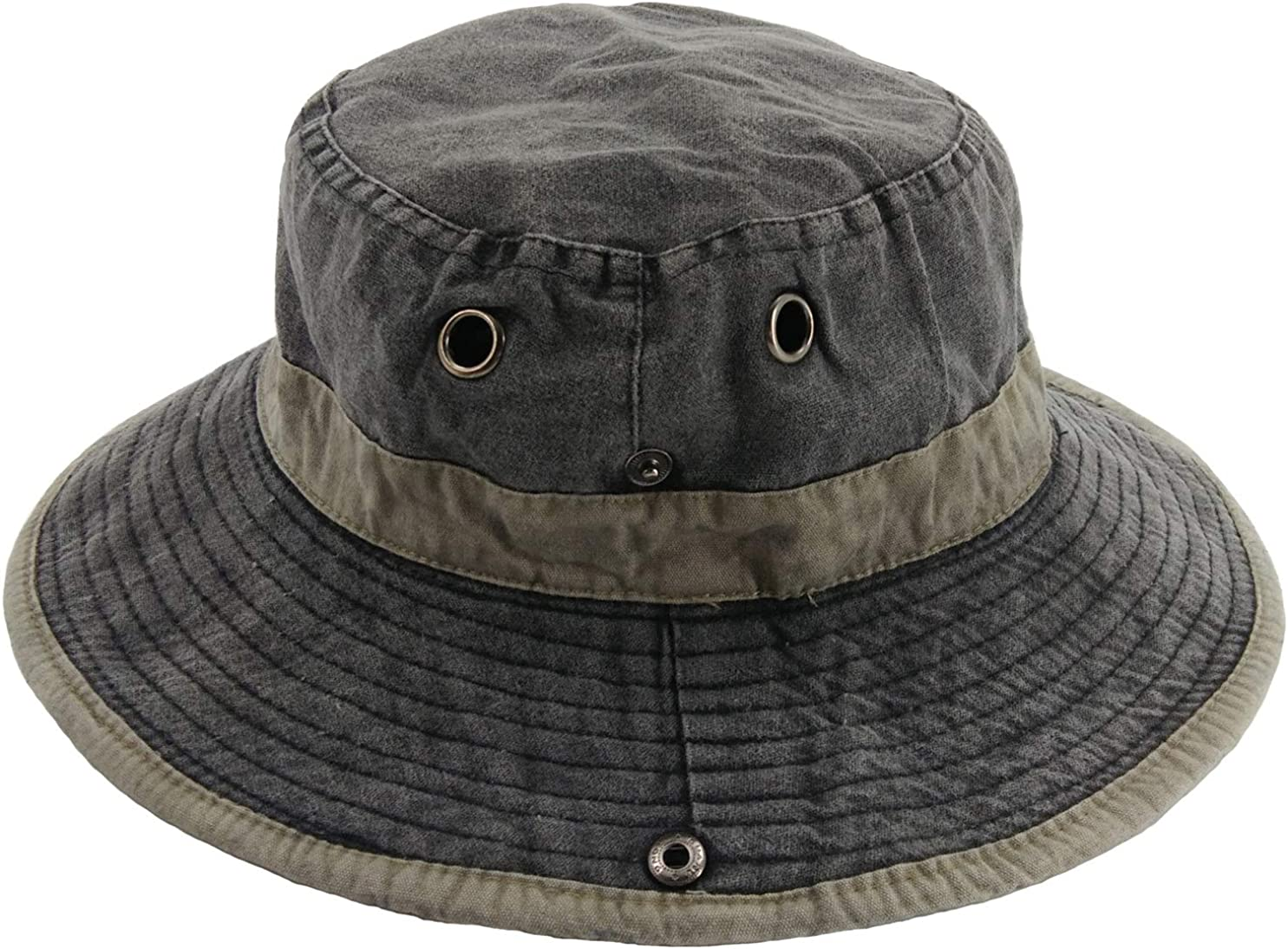 Ledamon Men's Sun Hat Fisherman Hat UV Protection Outdoor Hiking Fishing Washed Cotton Hat (Charcoal Grey) at  Men's Clothing store