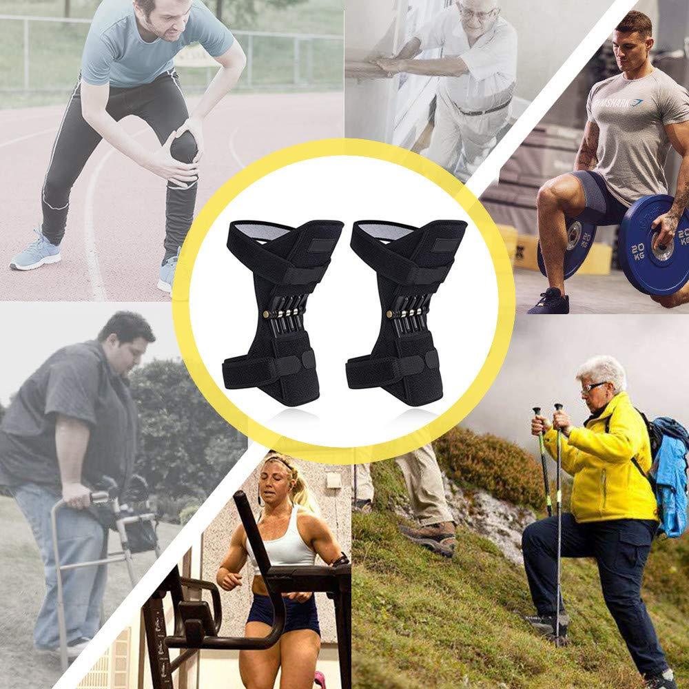 1 Pair Joint Support Knee Pads, PowerLift Joint Support Knee Pads Powerful Rebound Spring Force for Arthritis Tendonitis Gym (B) by Chiccc (Image #5)