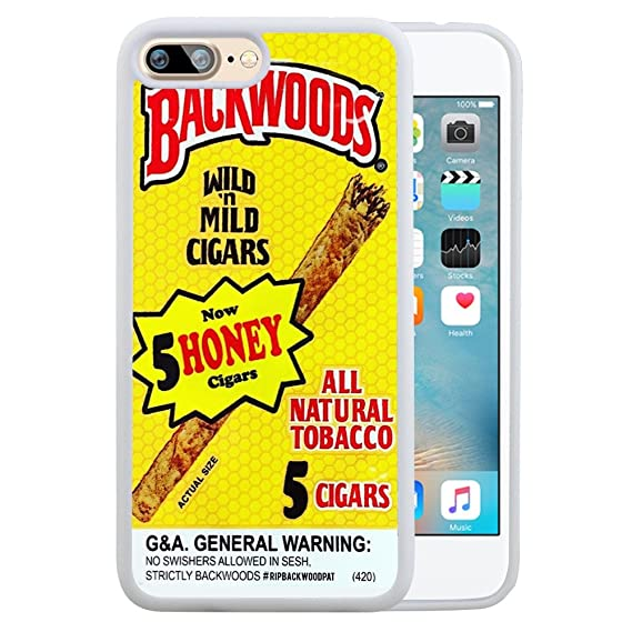 meet 77da1 631fc SSCase Yellow Backwoods Honey Cigar Soft Plastic Protected Case for iPhone  7 plus - White