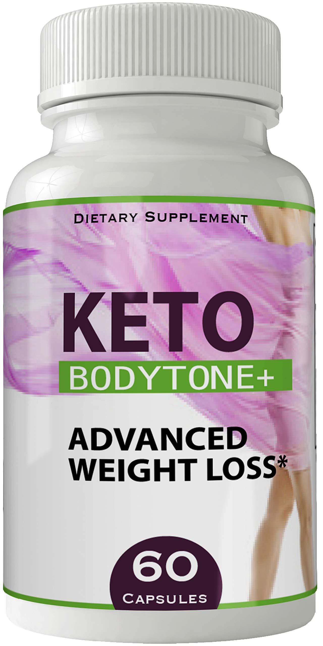 Keto Bodytone Plus Advanced Natural Ketogenic Body Tone Weight Loss Pills, BHB Burn Fat Supplement, 800 mg Formula with New True Slim GO BHB Salts Formula, Advanced Appetite Suppressant Capsules ...