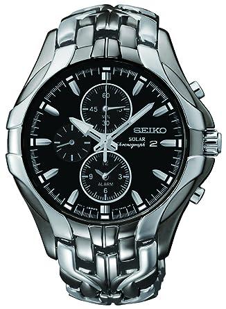Seiko Men S Excelsior Black Ion Finish Solar Chronograph Watch