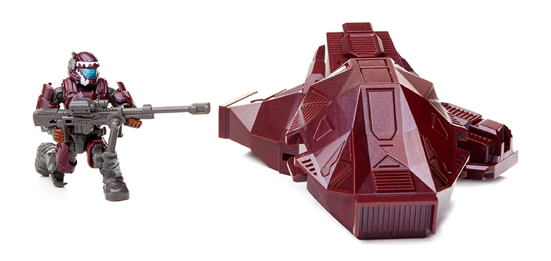 Mega Bloks Halo Metallic Crimson Drop Pod Mattel DPP68