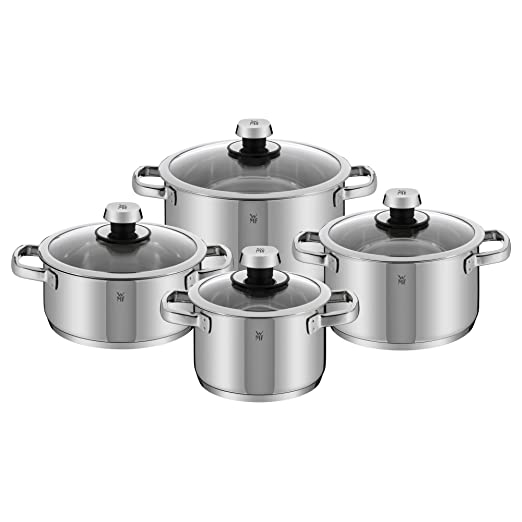 WMF Livo Batería de Cocina (4 Piezas), Acero Inoxidable ...