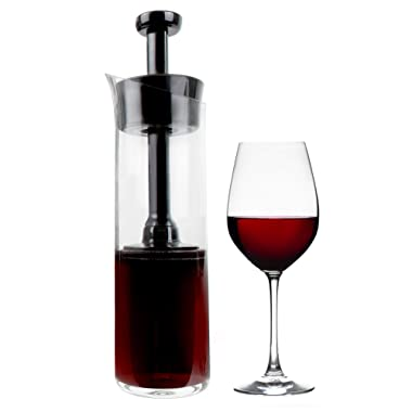 Wine Squirrel Wine Preserving Decanter - Air-Tight Seal that Keeps Wine Fresh