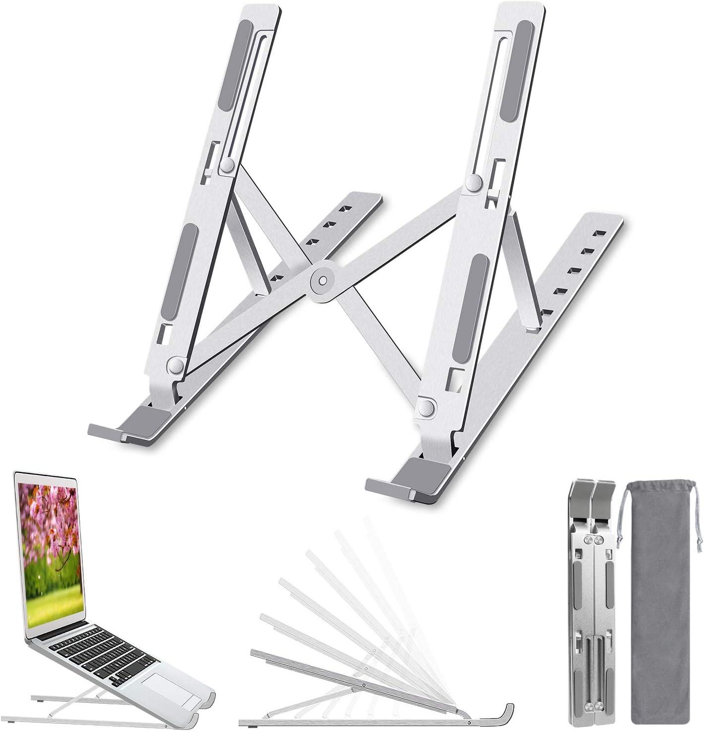Miuzei Laptop St/änder die meisten 10~17 Zoll Laptops Pro,Dell XPS laptopst/änder h/öhenverstellbar Tragbarer Notebook St/änder faltbar Computerhalterung laptophalter,kompatibel mit MacBook Air