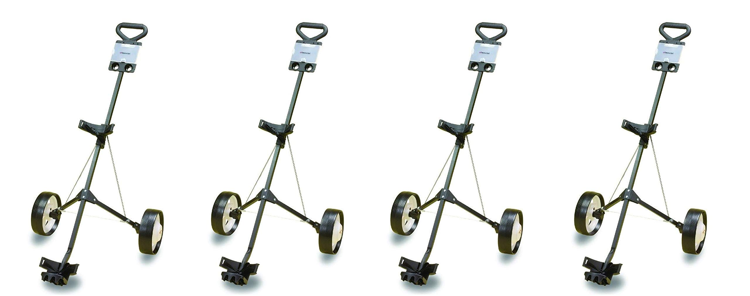 JEF WORLD OF GOLF Deluxe Steel Golf Cart (4-Pack)