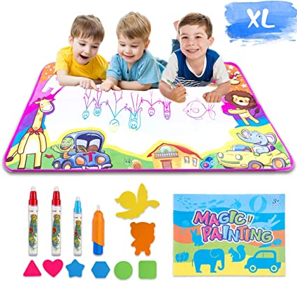 Baby Noah Aqua Magic Doodle Mat for Kids Painting Board Suitable for Family Kids Activity Center Paint /& Design Toy for Kids Drawing on Magic Water Mat Mess Free Painting for Toddler