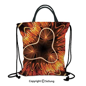 Abstract 3D Wave Black Large Messenger School Bag