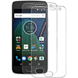 [2-Pack] Motorola Moto G5 Plus Protector de Pantalla Nazzamo Moto G5 Plus Cristal Templado Moto G5 Plus Vidrio Cristal [Ultra-Trasparente] [sin Burbujas] [Resistente a Arañazos] Moto G5 Plus Protector