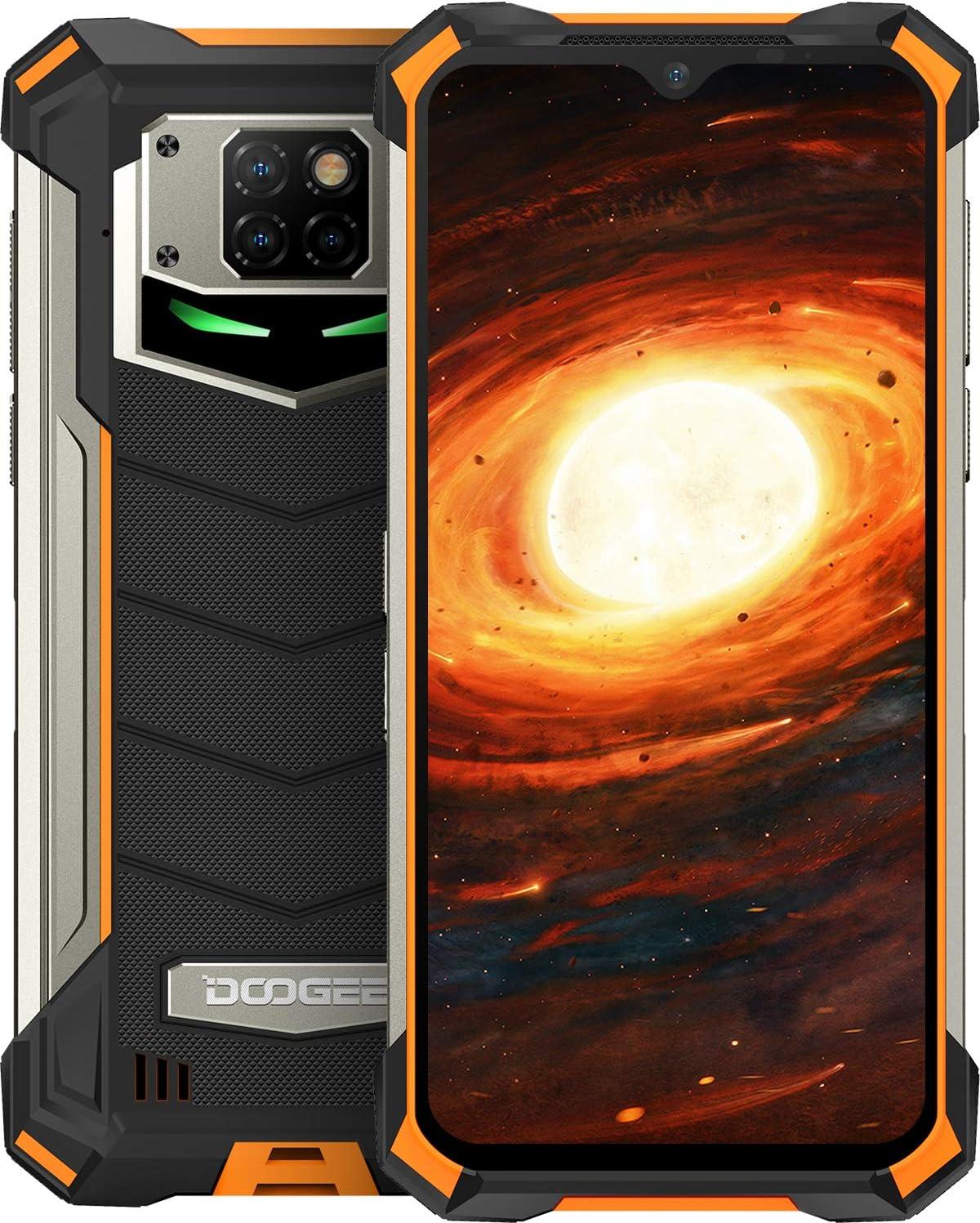 Telefono Móvil Libre, DOOGEE S88 Pro Android 10 Smartphone 4G, Batería 10000mAh 6GB + 128GB, Cámara Triples 21MP+Cámara Frontal 16MP, 6.3 FHD+Pulgada IP68/IP69K Móvil Resistente, LED/NFC/GPS, Naranja