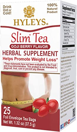 Hyleys Tea Slim Tea Goji Berry 1 32 Ounce 25 Tea Bags Amazon