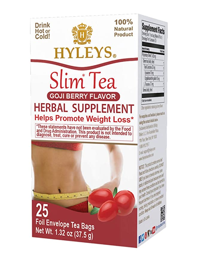 Amazon Com Hyleys Slim Tea Goji Berry 25 Tea Bags 100