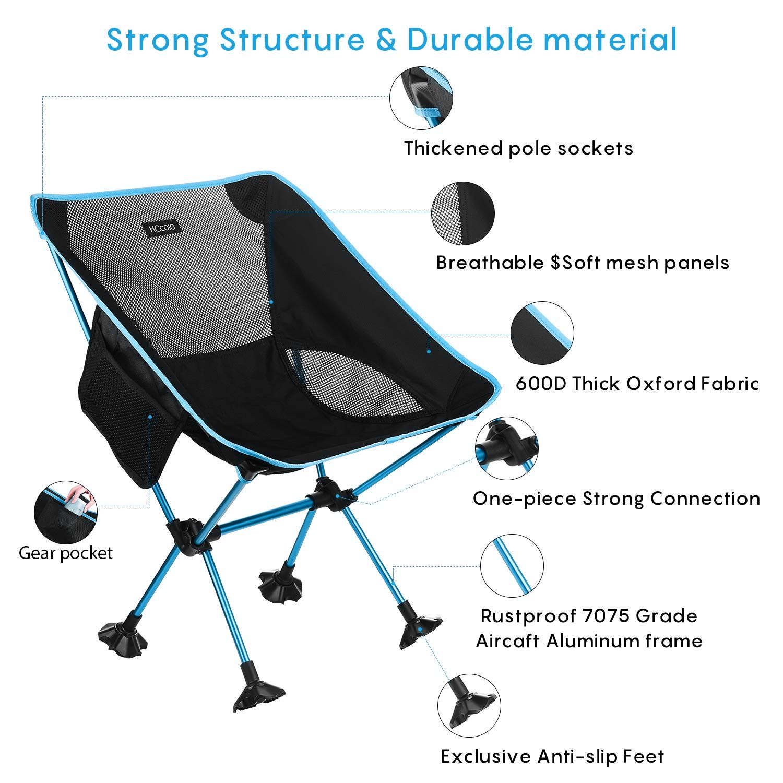 Amazon.com: HCcolo 【Upgrade Non-Slip Feet Camping Chair ...