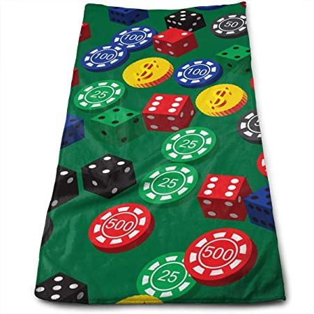 BBABYY Poker Chips Dice Pattern Yoga and out Door Microfiber ...