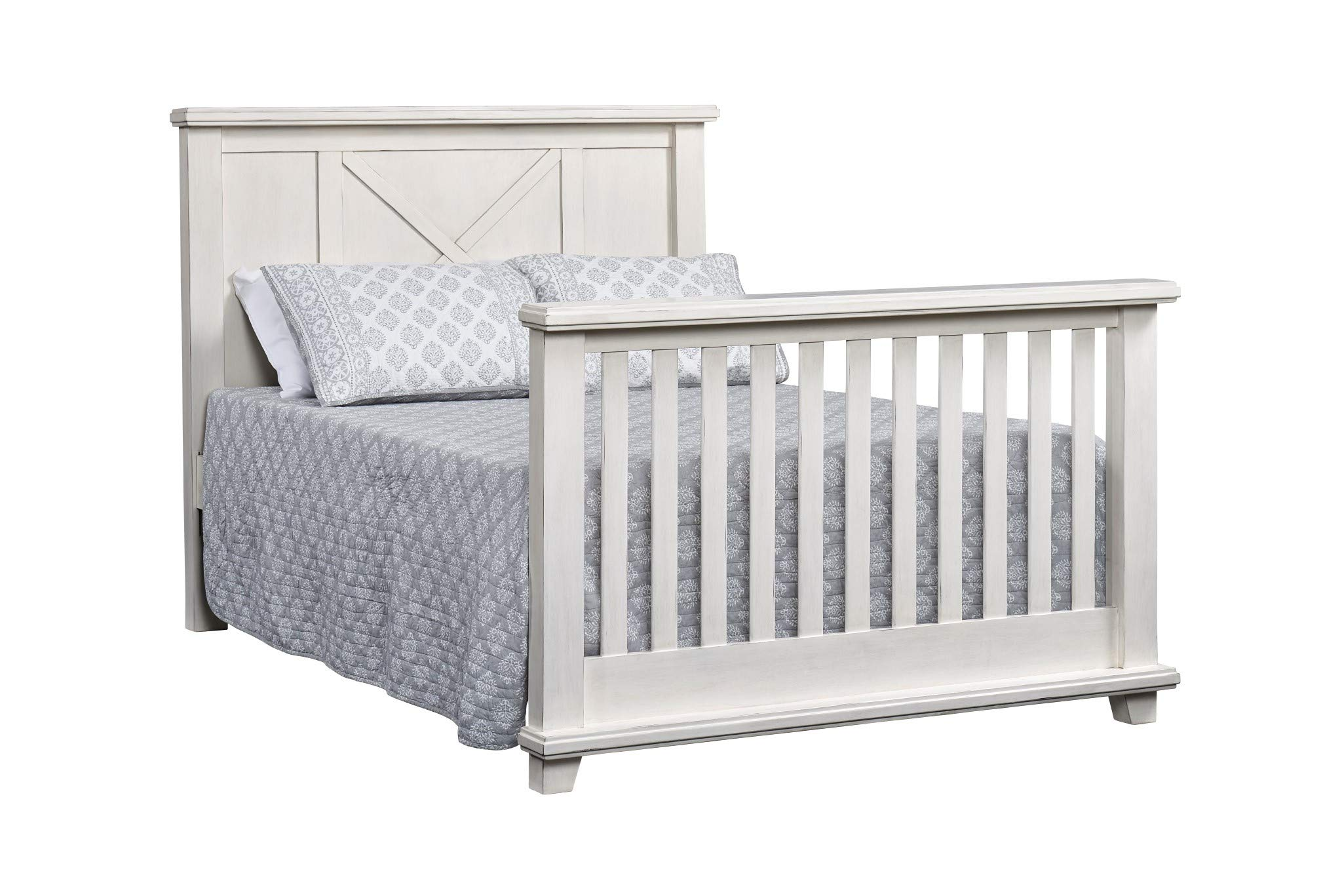 Oxford Baby Lexington Full Bed Conversion Kit, Heirloom White by Oxford Baby (Image #2)