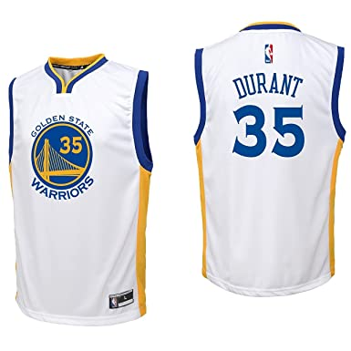 44dbcc5fdb4 ... get outerstuff kevin durant golden state warriors 35 white youth home  replica jersey x large d3929