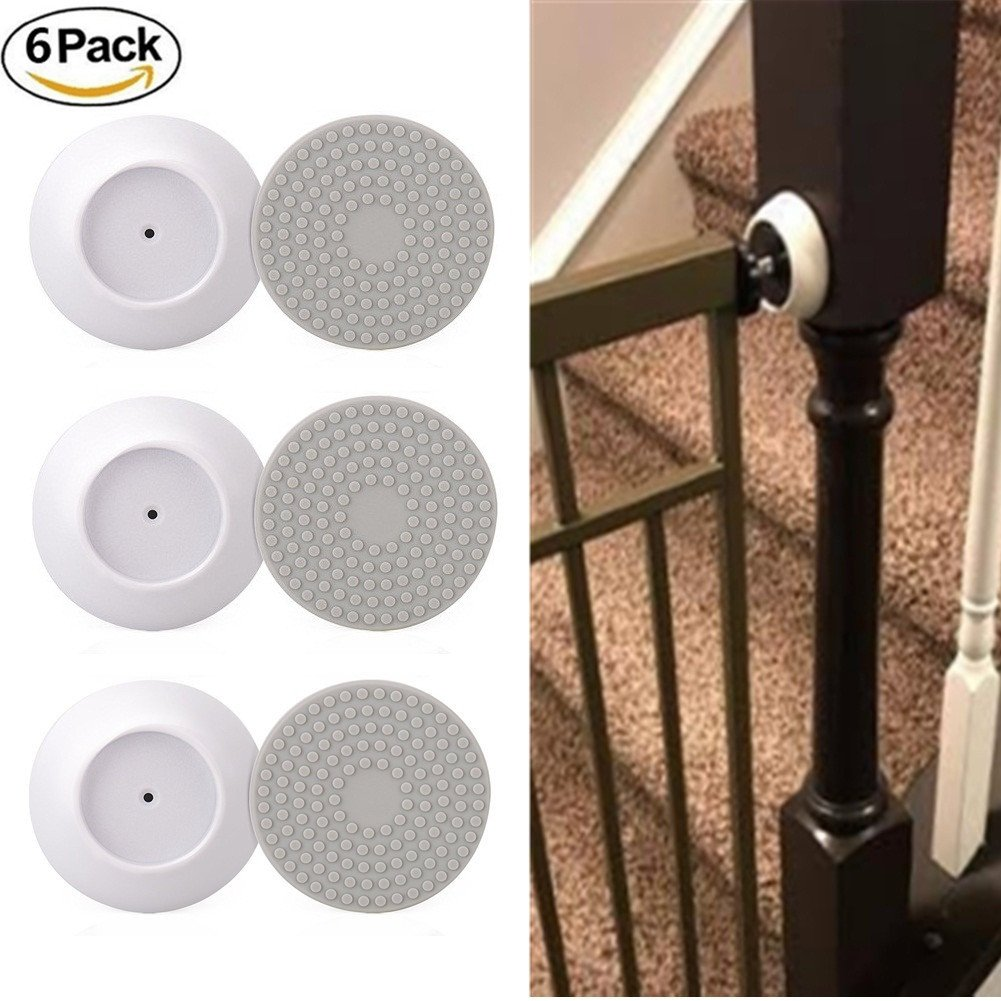 6 Pack Wall Protector Guard Pads Installation Saver for Baby Pressure Gate GoIris
