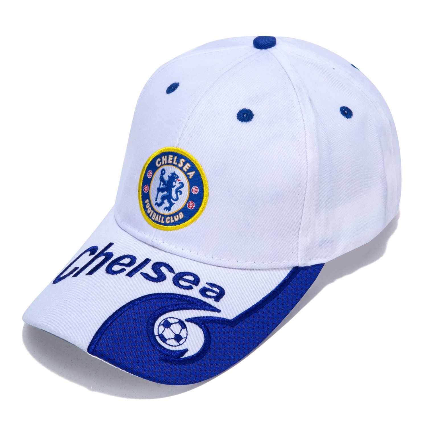 54d2d597e65 DanielFelix Chelsea F.C. -Embroidered Authentic EPL Adjustable White  Baseball Cap