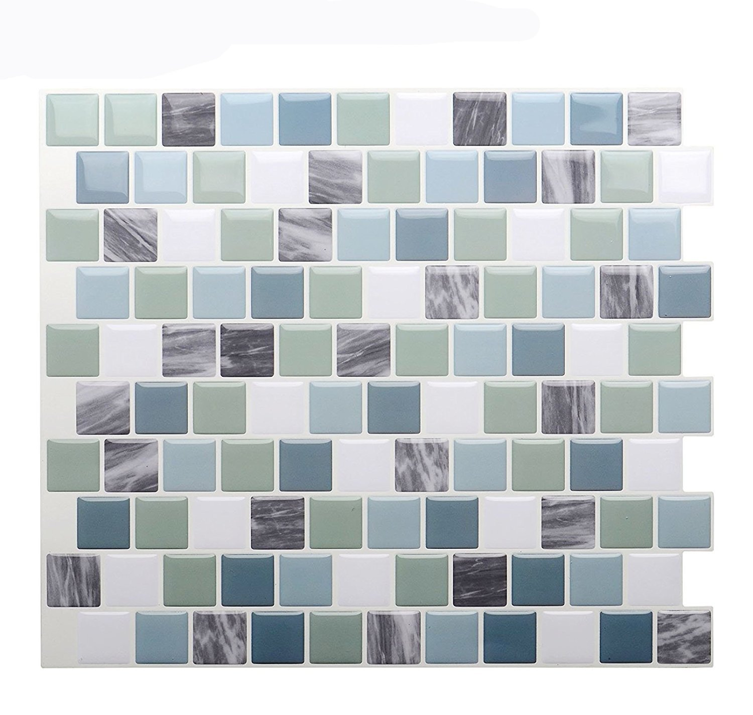 Vamos Tile Premium Anti Mold Peel and Stick Tile Backsplash,Self Adhesive Wall Tiles for Kitchen & Bathroom-10 x 9'' (6 Sheets)