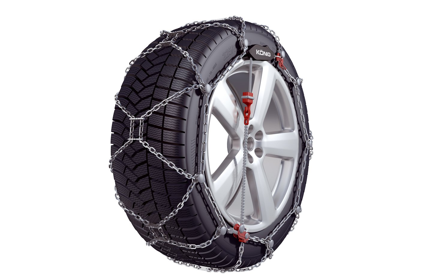 set of 2 Konig Distribution 2004705255 KONIG XG-12 PRO 255 Snow chains
