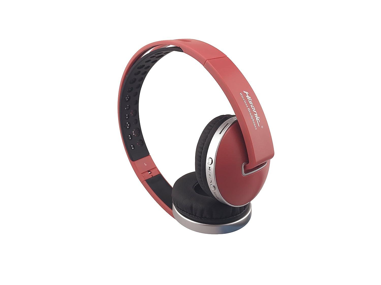 Auriculares Bluetooth Inalámbrico, Hisonic Casco Bluetooth con Tarjeta TF , Micrófono incorporado , Auriculares Bluetooth de Diadema Plegable para TV, ...
