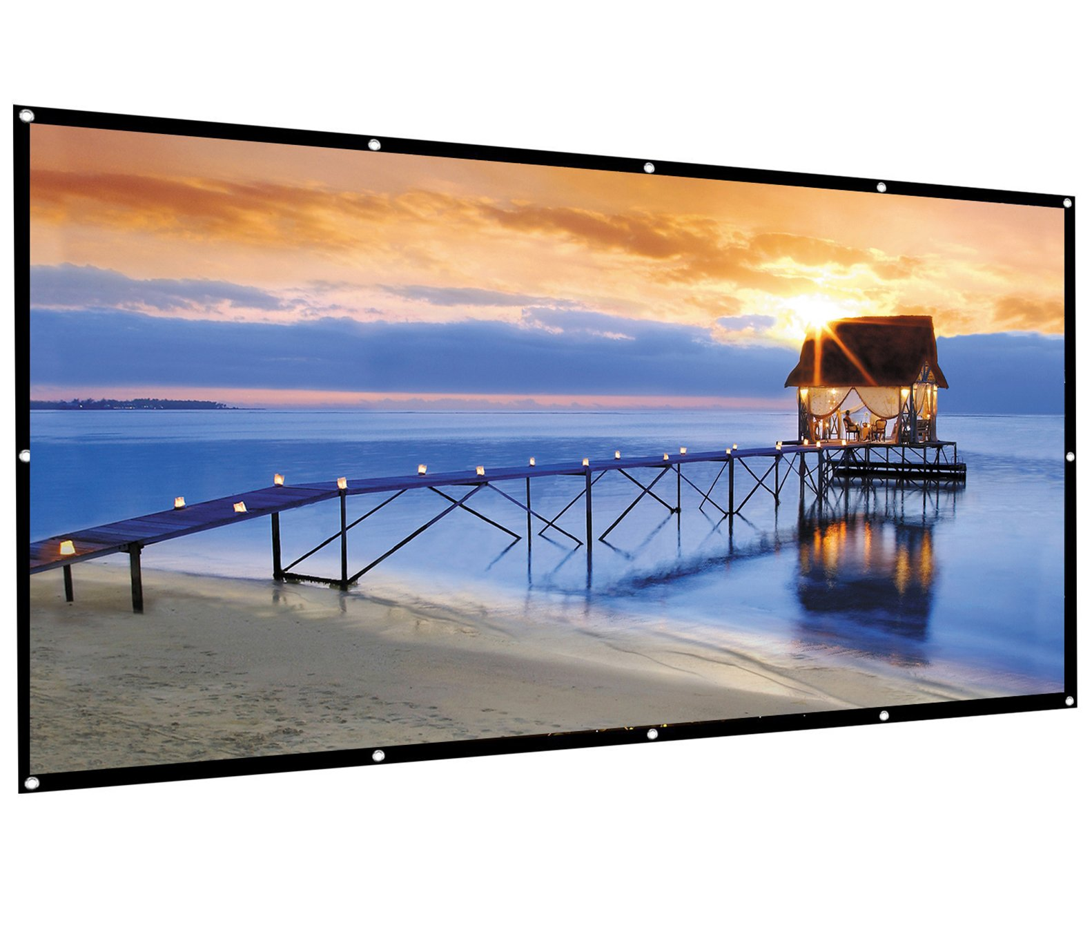 Famirosa Indoor Outdoor Portable HD Home Theater Projector Movie Screen,100 inch 120 inch 16:9 Portable Folding Projection Screen High Brightness, Suitable for HDTV/Sports/Movies/Presentations