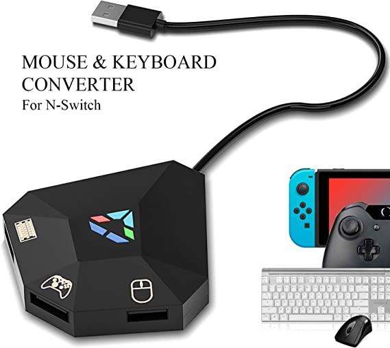 Amazon Com Keyboard And Mouse Adapter For Nintendo Switch Keyboard And Mouse Adapter For Ps4 Xbox One Ps3 Xbox 360