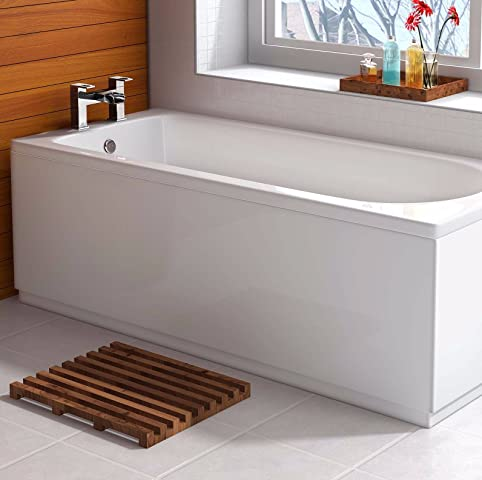Amazon.com: VeeBath Linx 1500mm Universal White Gloss Bath Panel Mdf ...
