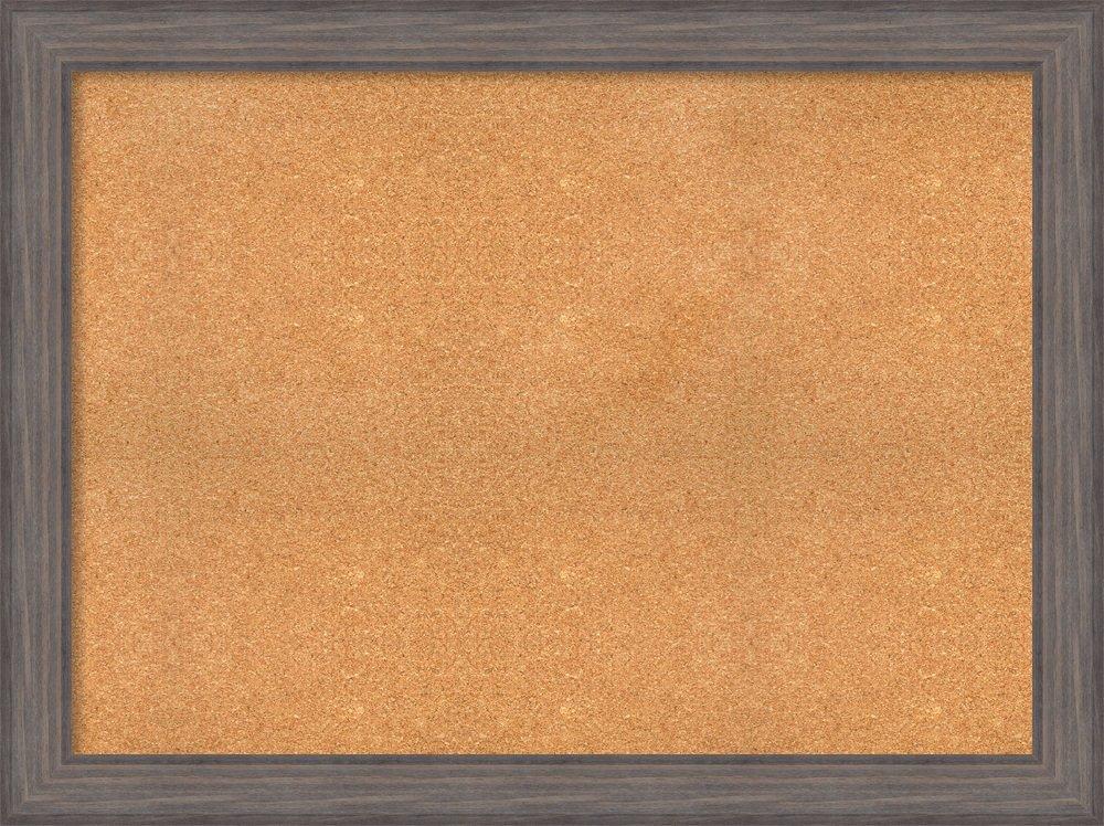 Amanti Art Choose Your Custom Size Natural Cork Country Barnwood Framed Bulletin Boards, 48 x 36