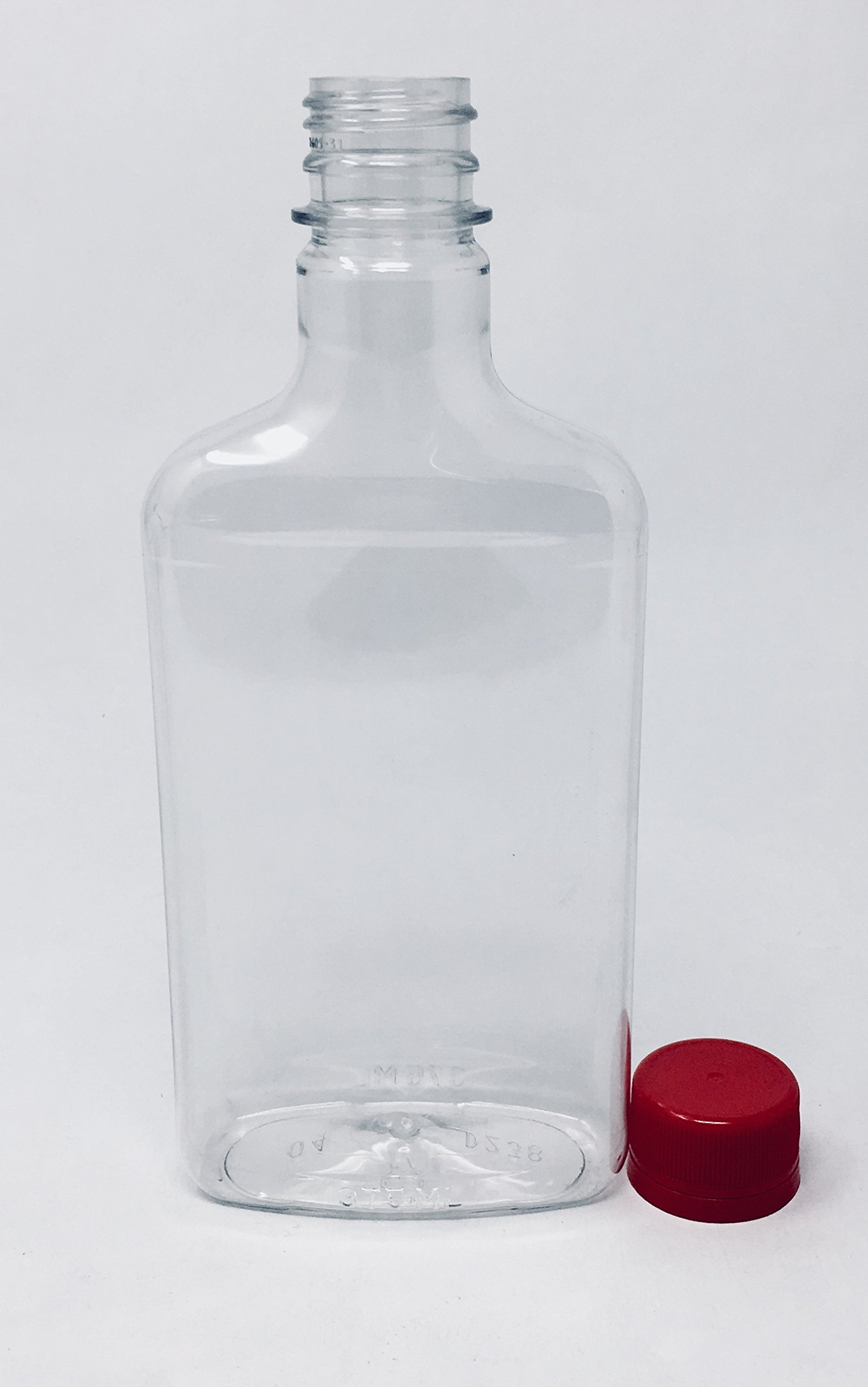 375 ml Crystal Clear Plastic Bottle with Red Tamper Evident Lid 10-Pack