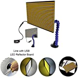 JMgist LED Stripe Line Board Paintless Dent Repair Tools Double Stripe Reflector Board PDR USB Line Board