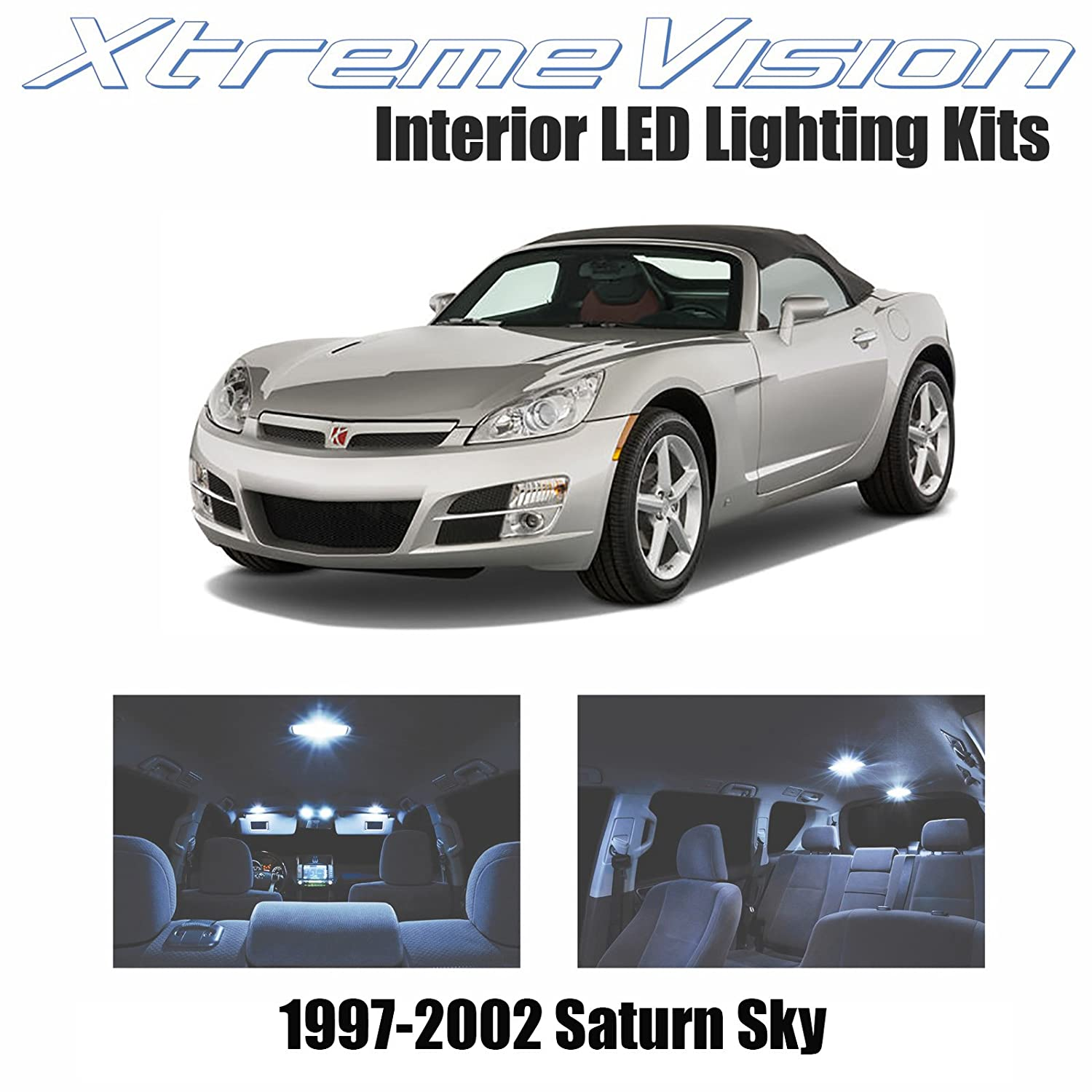 Amazon.com: XtremeVision Saturn Sky 2007 2009 (4 Pieces) Cool White Premium  Interior LED Kit Package + Installation Tool: Automotive