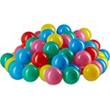 Relaxdays Ball Pit Balls, Non-Toxic Balls 6 cm, 100-Piece Set, Soft for Babies Age 6 Months and Up, Colourful