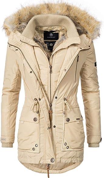 Marikoo Winterjas voor dames, winterparka met afneembaar