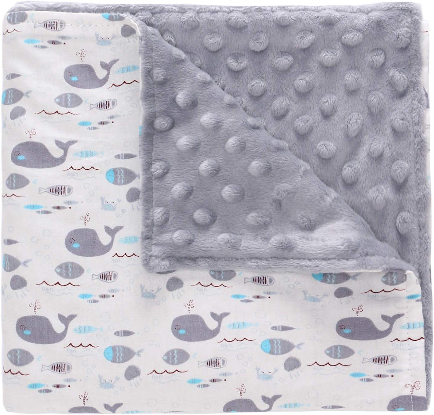 Couverture Coton pour B/éb/é Naissance 78 98CM en 100/% Coton Couverture Minky Peluche Chaude Enveloppant/é Enfant Fille et Gar/çon pour Si/èges Auto Landaus Coques B/éb/é Poussettes Lits Berceau