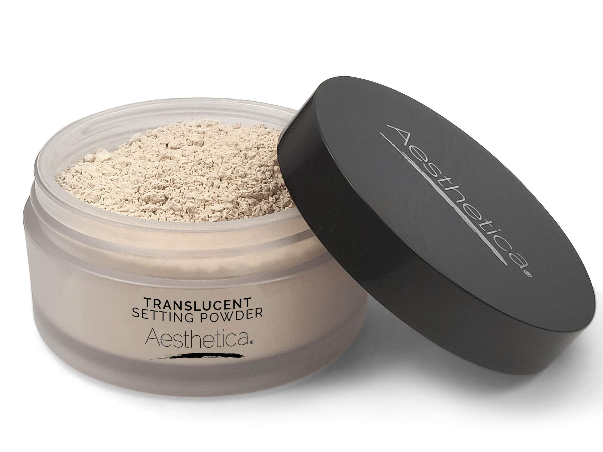 Aesthetica Translucent Setting Powder - Matte Finishing Makeup Loose Setting Powder - Flash Friendly Translucent Powder Foundation - Loose Face Powder Includes Velour Puff by Aesthetica