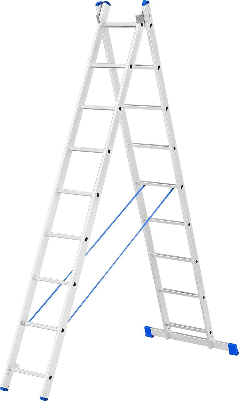 Escalo LS2X09 Stabilo - Escalera con estabilizador (aluminio, 2 x 9 peldaños): Amazon.es: Bricolaje y herramientas