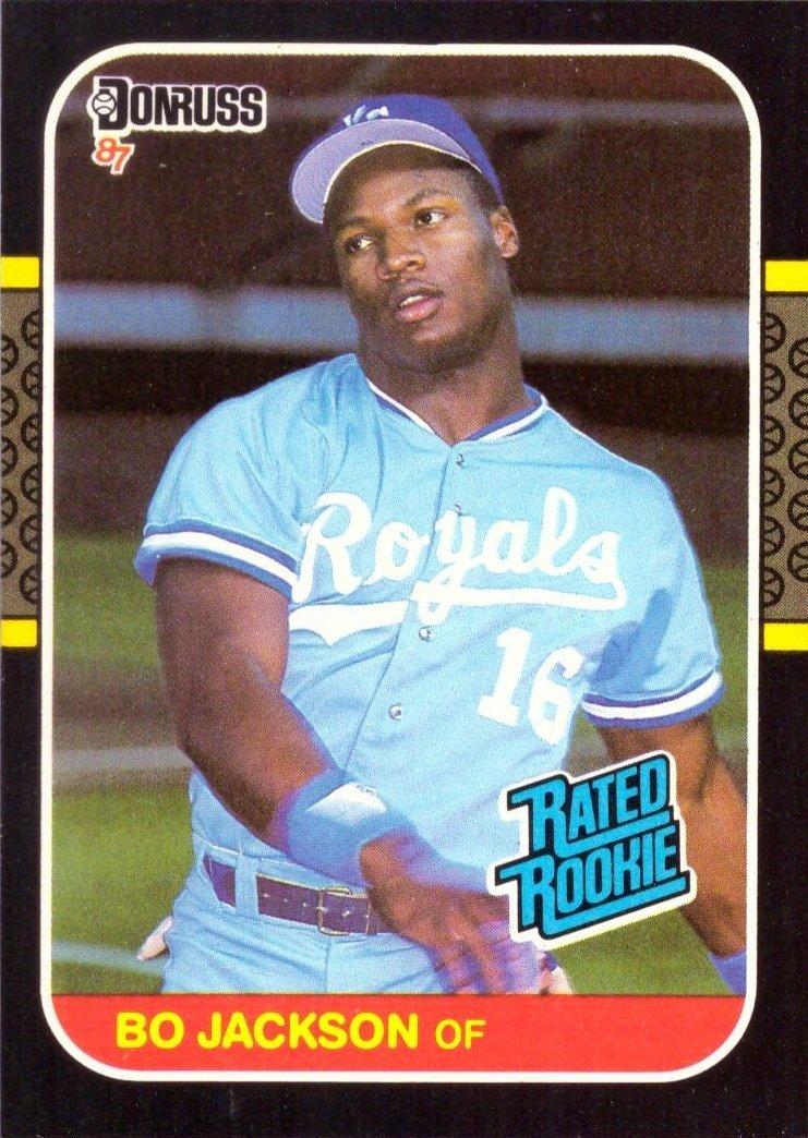 1987 Donruss Baseball 35 Bo Jackson Rookie Card