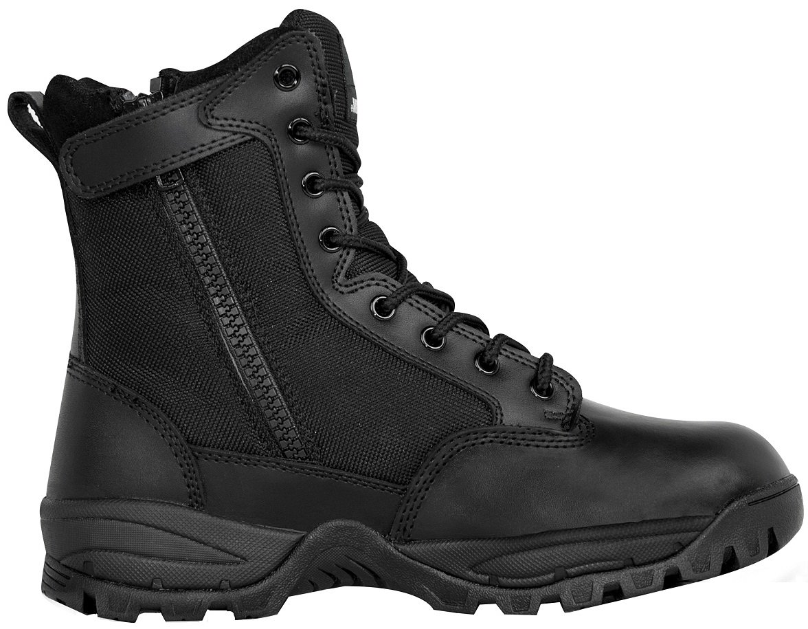 Maelstrom Men's TAC Force 8 inch Waterproof Military Tactical Duty Work Boot with Zipper, Black, 11.5 M US