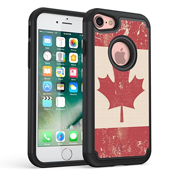 new arrival 43e6f 7bcd7 TrueColor Case for iPhone Xs, iPhone X Case, Canadian Flag Vaultek Case  Printed on Heavy Duty Hybrid Dual Layer Protective Durable Shockproof  Rugged ...