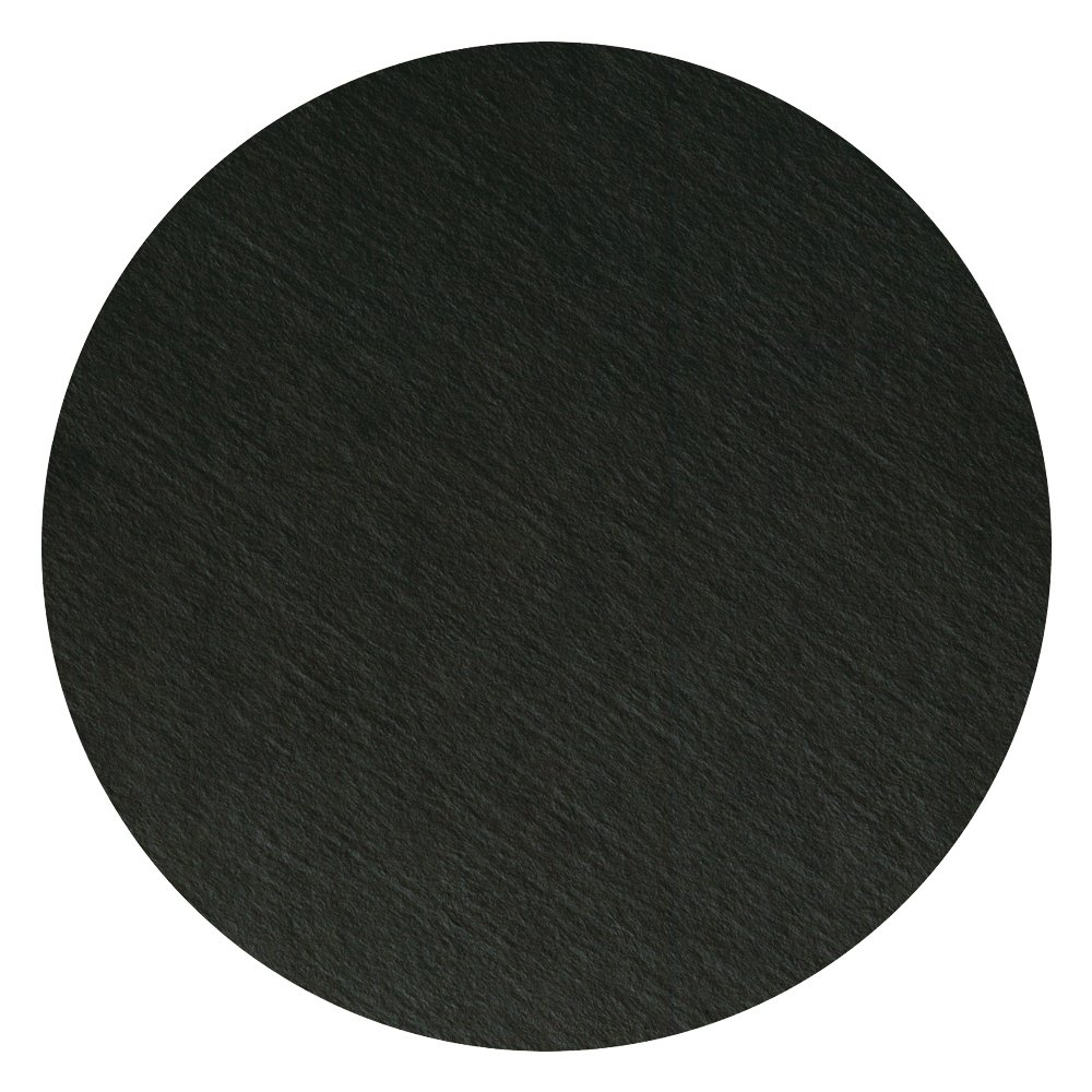 Hoffmaster 876107 Round Two-Sided Coaster, 4'' Black (Pack of 500) by Hoffmaster