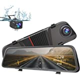 """Mirror Dash Cam 1080P AWESAFE 10"""" Touch Screen Front and Rear Dual Lens Rear Mirror Camera with Parking Assistance Night Vision G-Sensor"""
