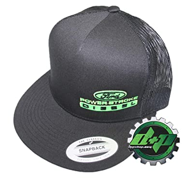 e11d15869ce19 Image Unavailable. Image not available for. Color  Lime green embroidered  black ford powerstroke trucker ...