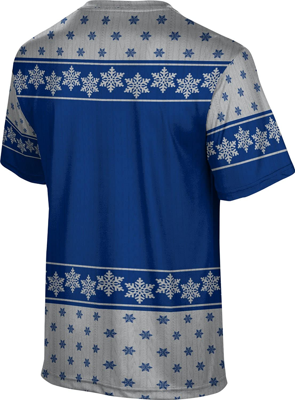 University of Arkansas-Fort Smith Ugly Holiday Mens Performance T-Shirt Snowflake
