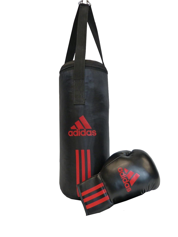 adidas Set de boxeo para niños Junior Pack, negro/rojo 43 x 19 cm, ADIBACJP
