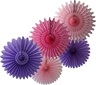 product image for Devra Party 5-Piece Tissue Paper Fans, Lavender Pink