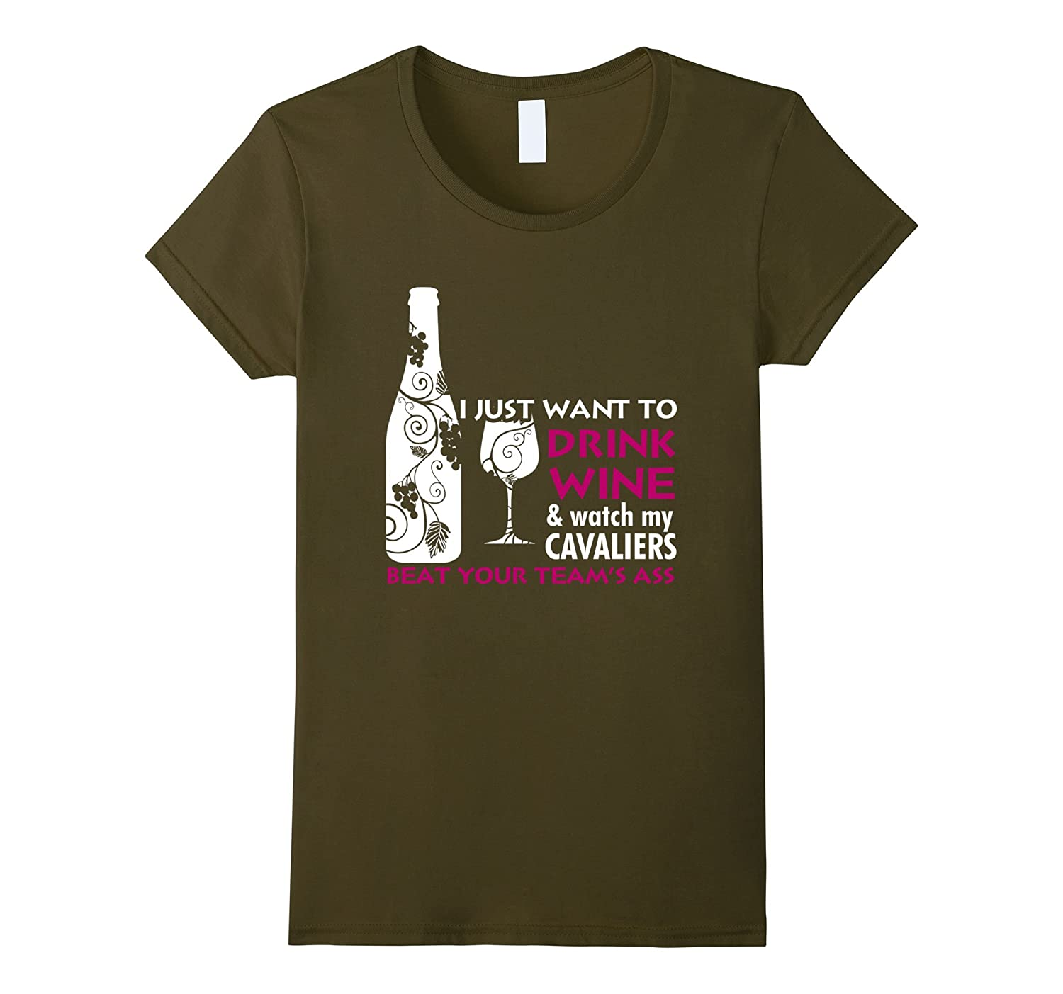I Just Want TO Drink Wine And Watch My Basketball T Shirt