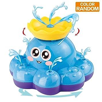 Juguete de Baño Funcorn, Pulpo Rociador de Agua Electrónico (Color Aleatorio) Puede Rotar